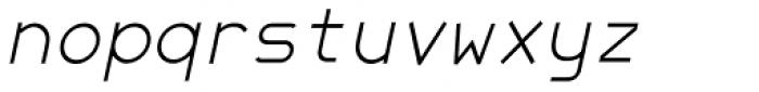 JetJaneMono Thin Italic Font LOWERCASE