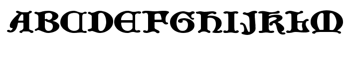 JF Cotswold Letters Font UPPERCASE