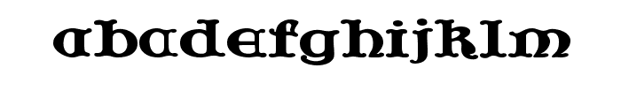 JF Cotswold Letters Font LOWERCASE