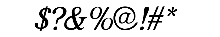 JF Shill Italic Font OTHER CHARS