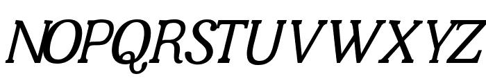 JF Shill Italic Font UPPERCASE