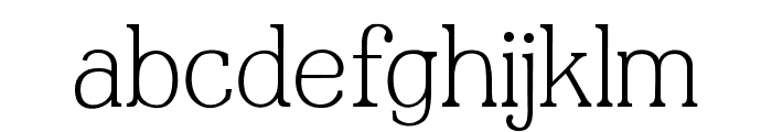 JF Shill Light Book Font LOWERCASE