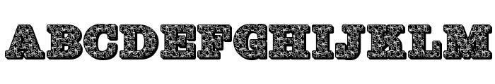 JFHollyBows Font UPPERCASE