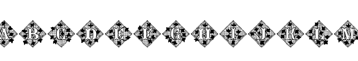 JFIvyLaceAlt Font LOWERCASE