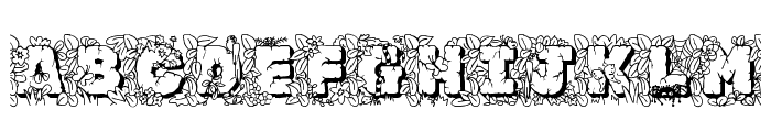 JFJungleRock Font UPPERCASE