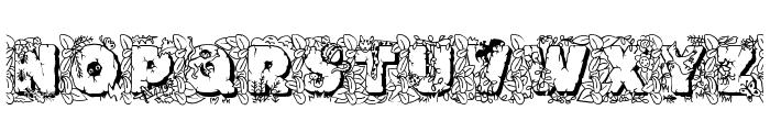 JFJungleRock Font LOWERCASE