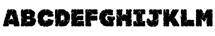 JFRockSolid Font UPPERCASE