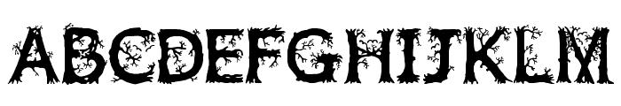 JFWildWood Font UPPERCASE