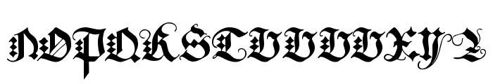 JGJ D?rer Gothic Font UPPERCASE