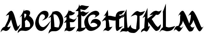 JGJ Roman Rustic Bold Font UPPERCASE