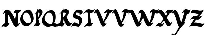 JGJ Roman Rustic Bold Font LOWERCASE