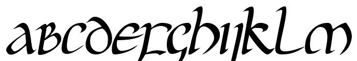 JGJ Uncial Italic Font UPPERCASE