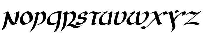 JGJ Uncial Italic Font LOWERCASE