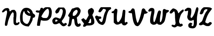 JGTrailsBolder Font UPPERCASE