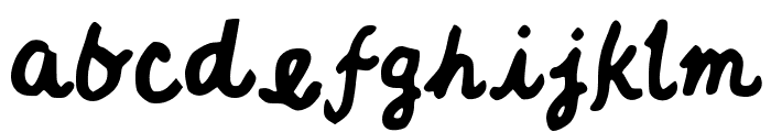 JGTrailsBolder Font LOWERCASE
