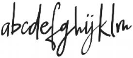 Jherry Jill Regular otf (400) Font LOWERCASE