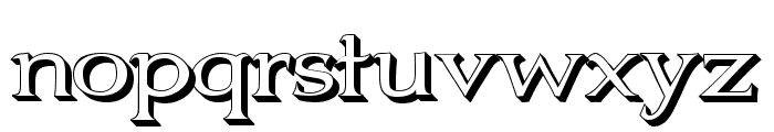 Jhunwest 3D Font LOWERCASE