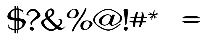 Jhunwest Convex Font OTHER CHARS