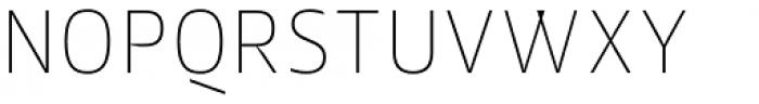 Jheronimus Thin Font UPPERCASE