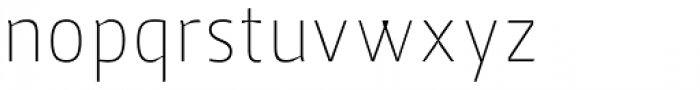Jheronimus Thin Font LOWERCASE