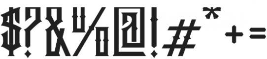 Jibriel Upcase Alt2 ttf (400) Font OTHER CHARS