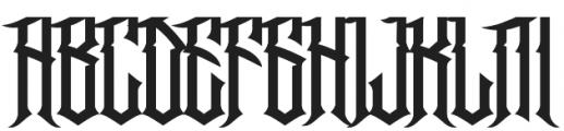 Jibriel otf (400) Font UPPERCASE