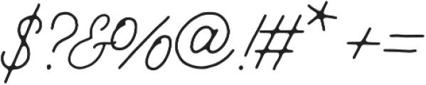 Jimmy Script Light otf (300) Font OTHER CHARS