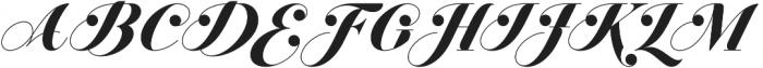 Jitzu Swash otf (700) Font UPPERCASE