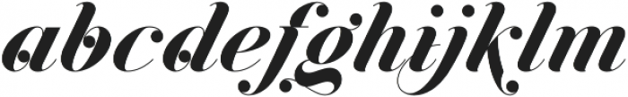 Jitzu Swash otf (700) Font LOWERCASE
