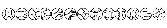 JI Baseball Font UPPERCASE