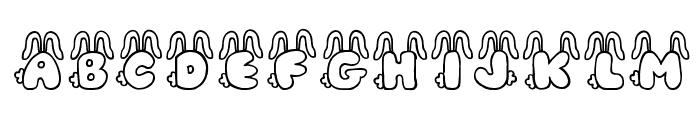 JI Bunny Caps Font UPPERCASE