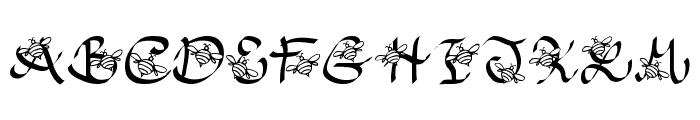 JI Honeybees Font UPPERCASE