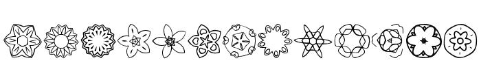 JI Kaleidoscope Bats 2 Font UPPERCASE