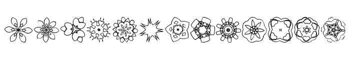JI Kaleidoscope Bats 3 Font UPPERCASE