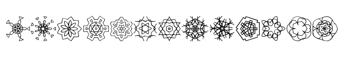JI Kaleidoscope Bats Font UPPERCASE