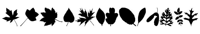 JI Nature Bats Font UPPERCASE