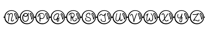 JI Pearl Necklace Font UPPERCASE