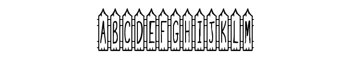 JI Picket Fence Font UPPERCASE