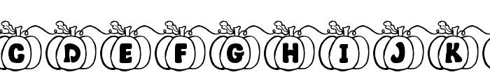 JI Pumpkins Font UPPERCASE