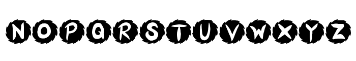 JI Sawblade Font UPPERCASE