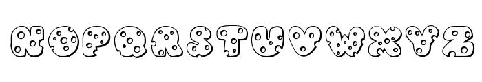 JI Swiss Cheese Font UPPERCASE