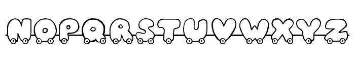 JI Toy Train Font UPPERCASE