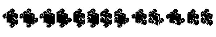 Jigsaw Puzzles 3D Filled Regular Font UPPERCASE