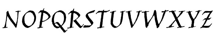 JimNightshade-Regular Font UPPERCASE