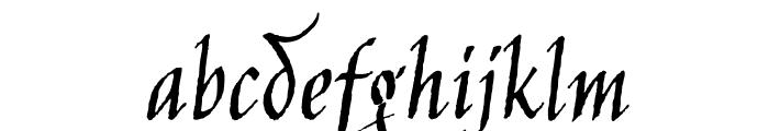 JimNightshade-Regular Font LOWERCASE