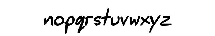 JimbosPrint-Bold-Italic Font LOWERCASE