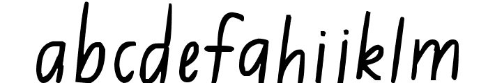 Jimmy Flashcard Font LOWERCASE