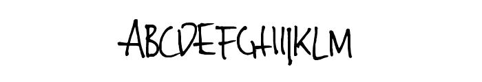 Jinky Font UPPERCASE