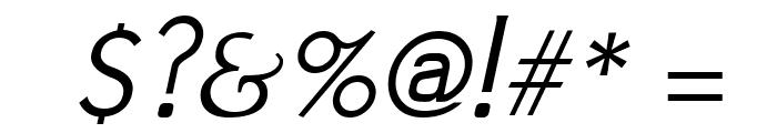 Jivita Italic Font OTHER CHARS