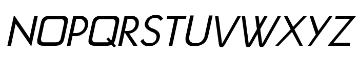 Jivita Italic Font UPPERCASE